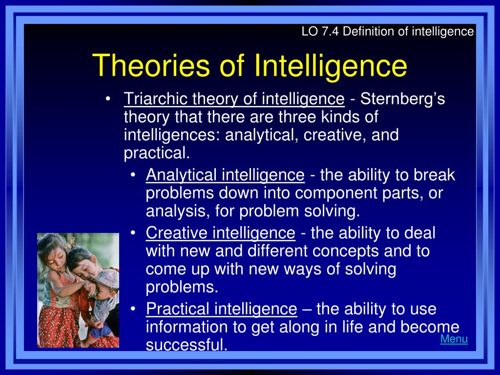 LO 7.4 Definition of intelligence