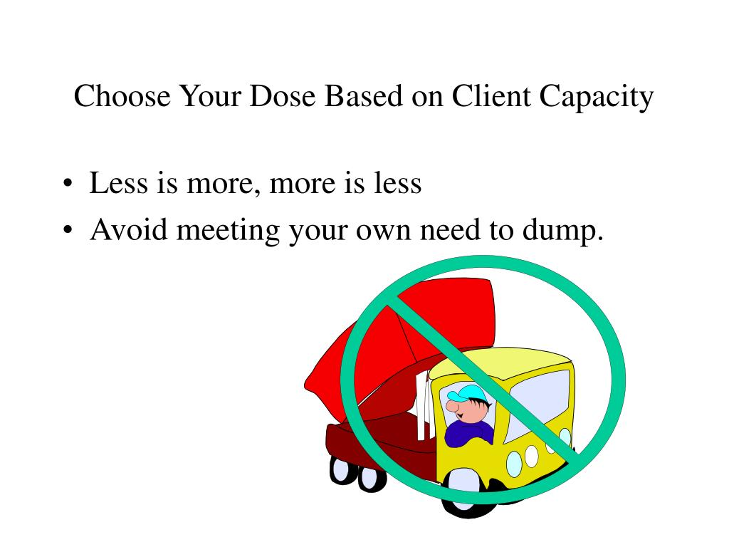 Choose Your Dose Based on Client Capacity