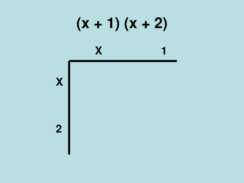 (x + 1) (x + 2)