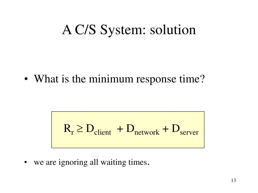 A C/S System: solution