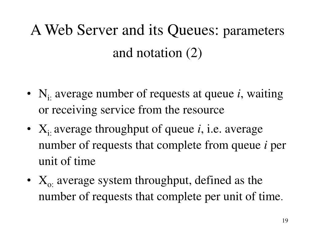 A Web Server and its Queues: