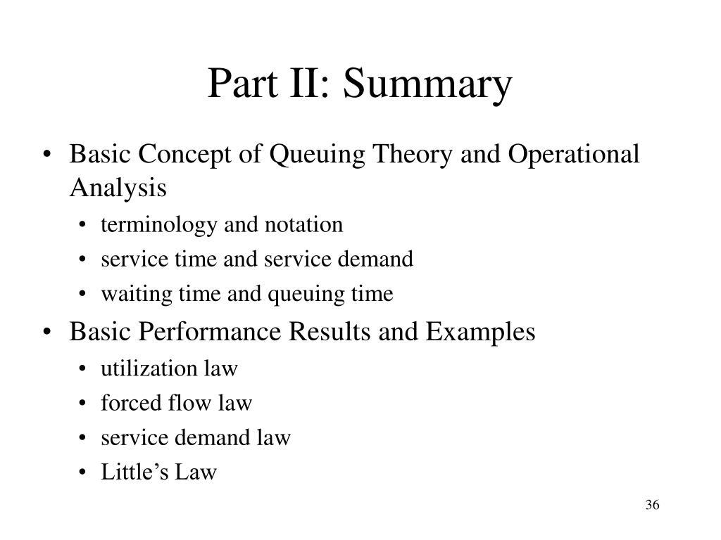 Part II: Summary
