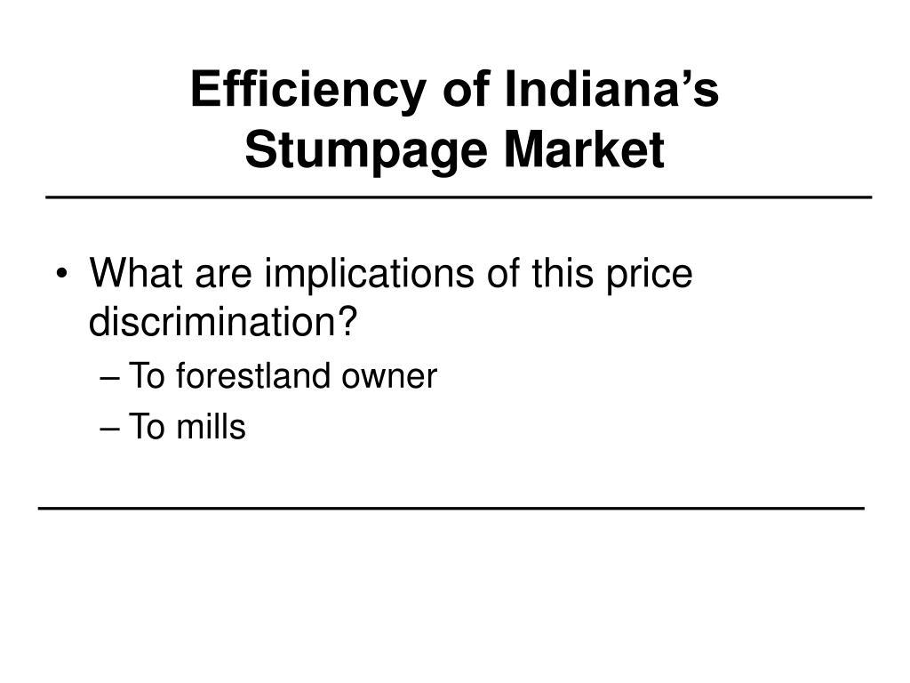 Efficiency of Indiana's