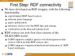 first step rdf connectivity