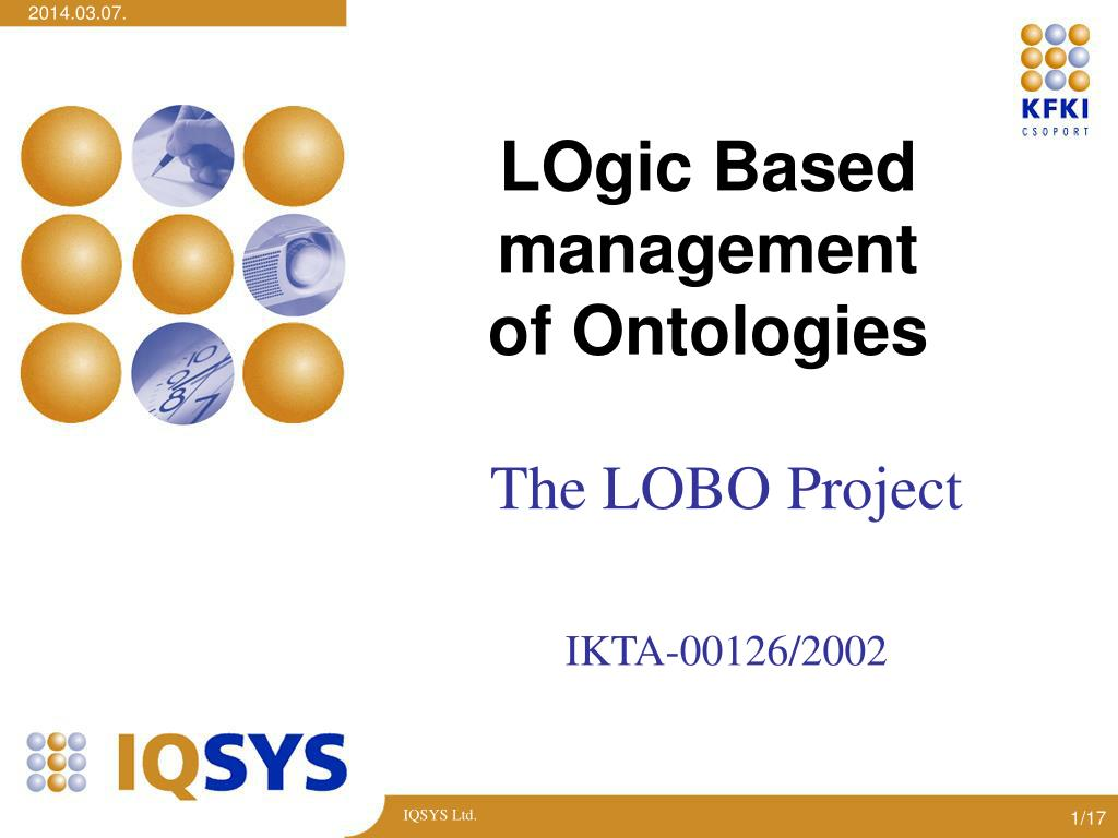 logic based management of ontologies l.