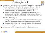 ontologies 1
