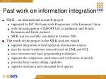 past work on information integration