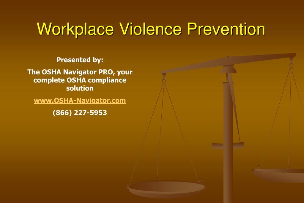 workplace violence prevention l.