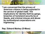 privacy tbdf one view