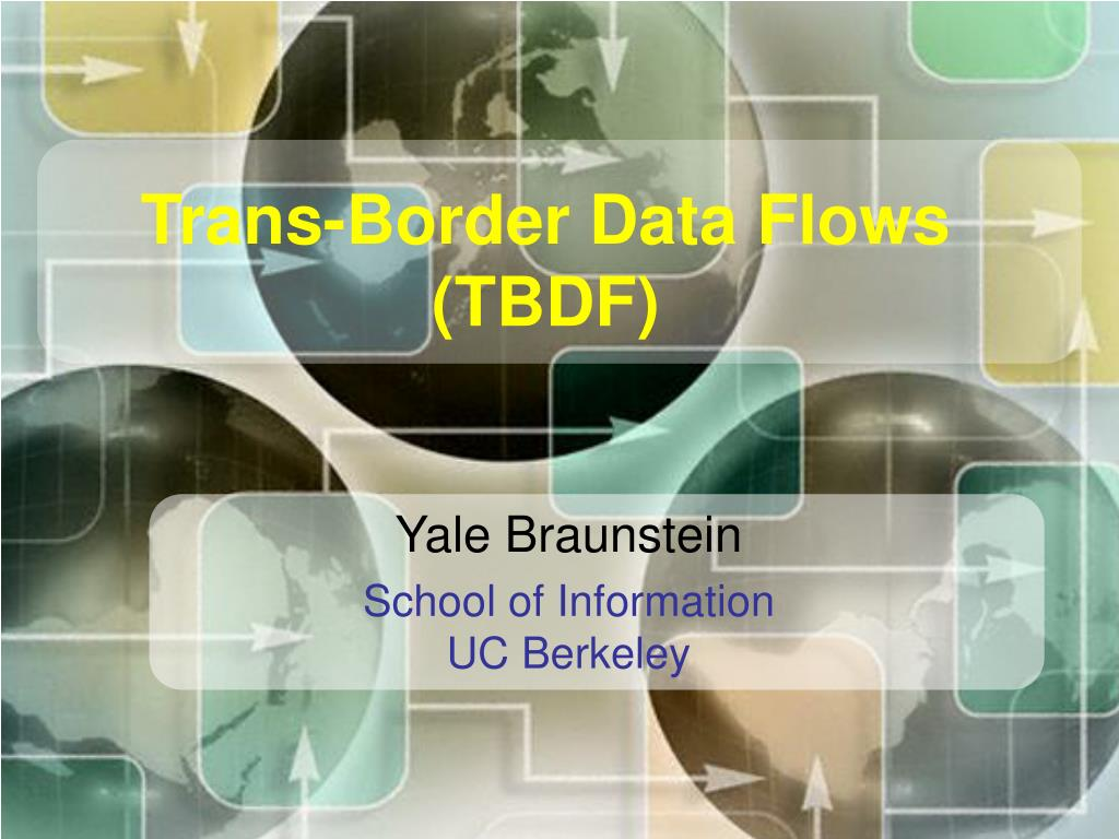 trans border data flows tbdf l.