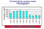 the south african consumer market lsm classification source saarf 2004