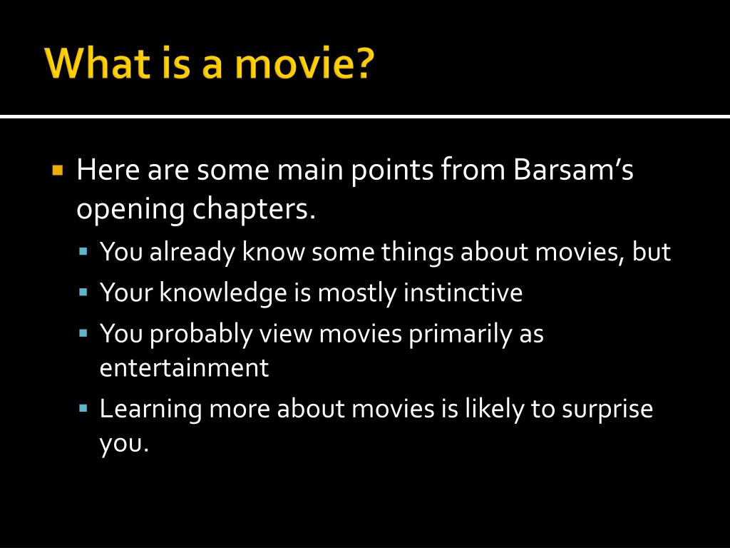 what is a movie l.