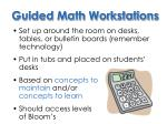 guided math workstations