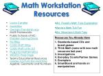 math workstation resources