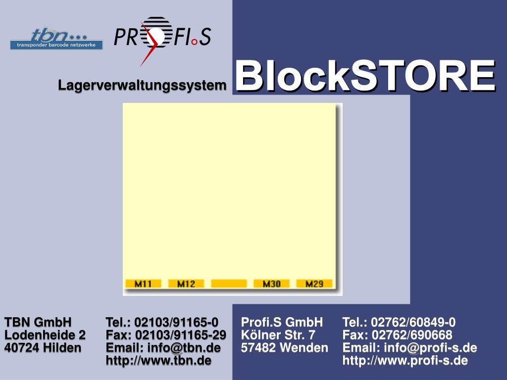 BlockSTORE