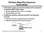 wireless magnifies exposure vulnerability