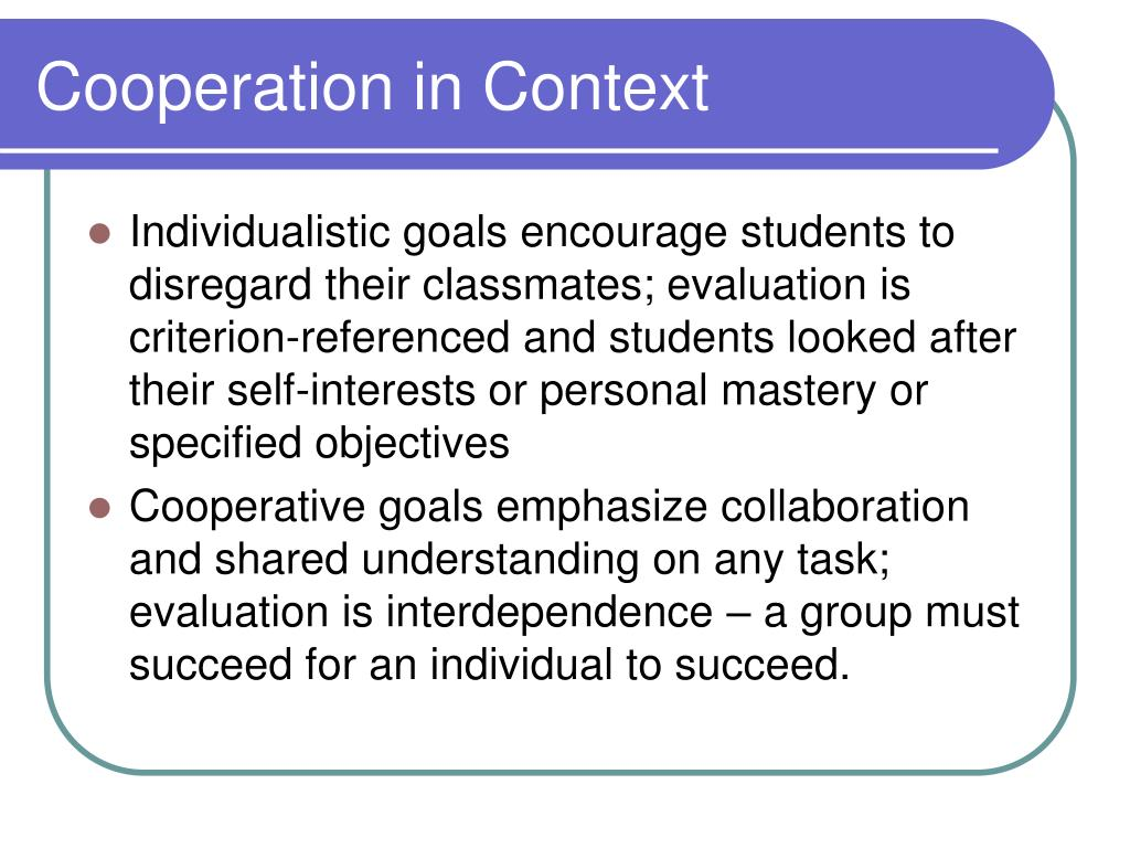 Cooperation in Context