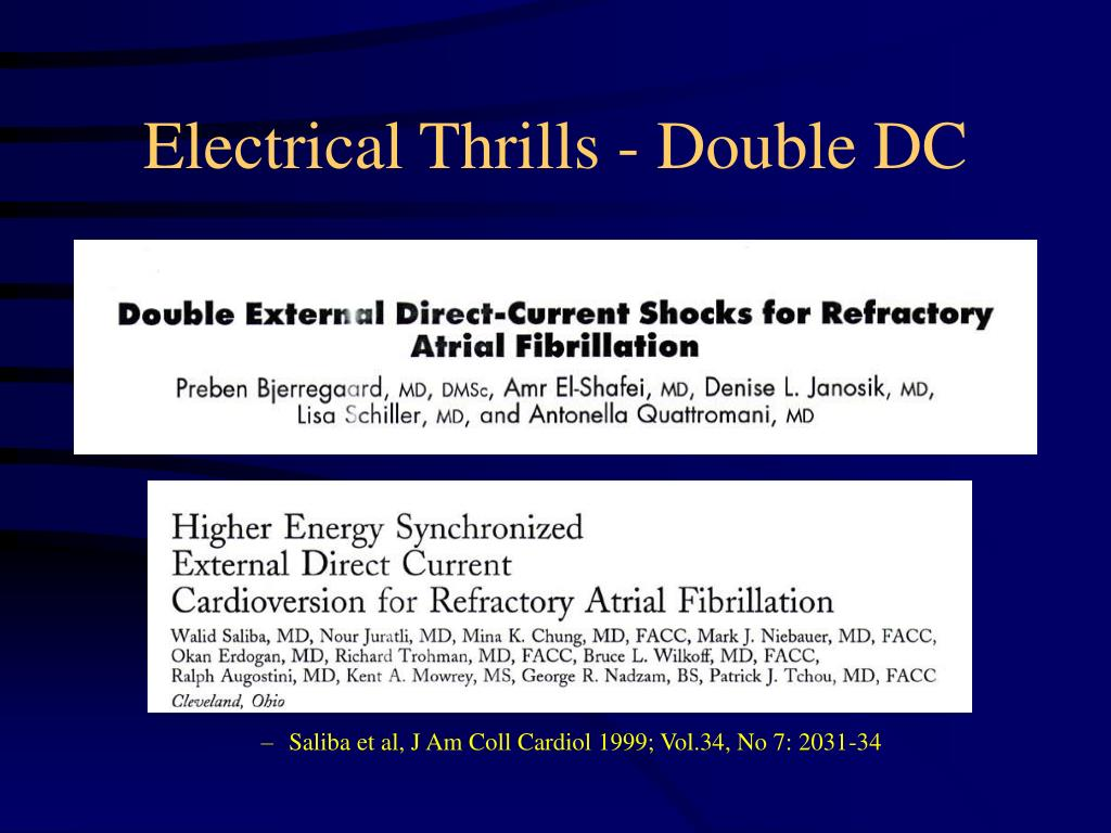 Electrical Thrills - Double DC