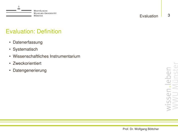 Evaluation definition