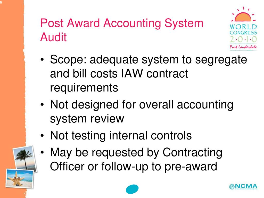 Post Award Accounting System Audit