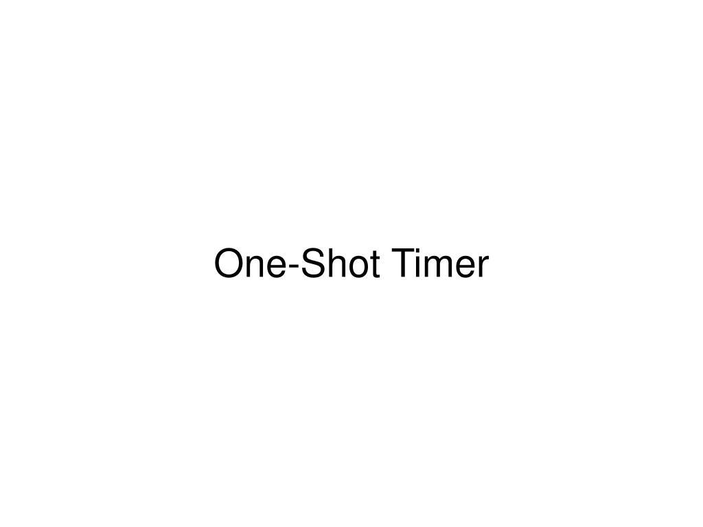 One-Shot Timer