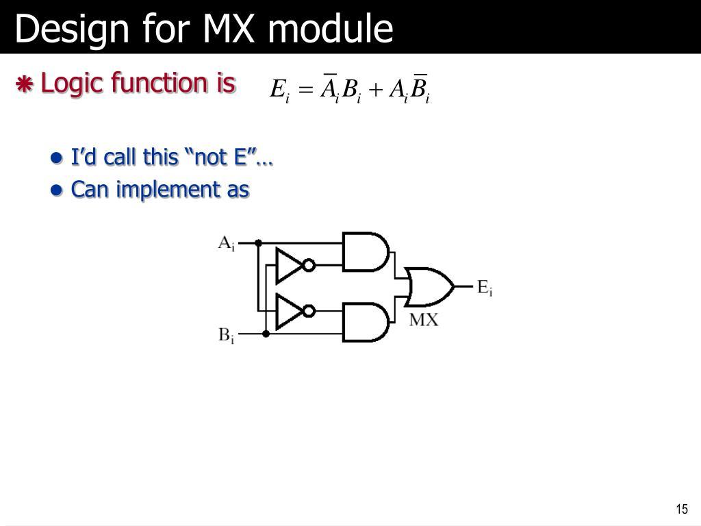 Design for MX module