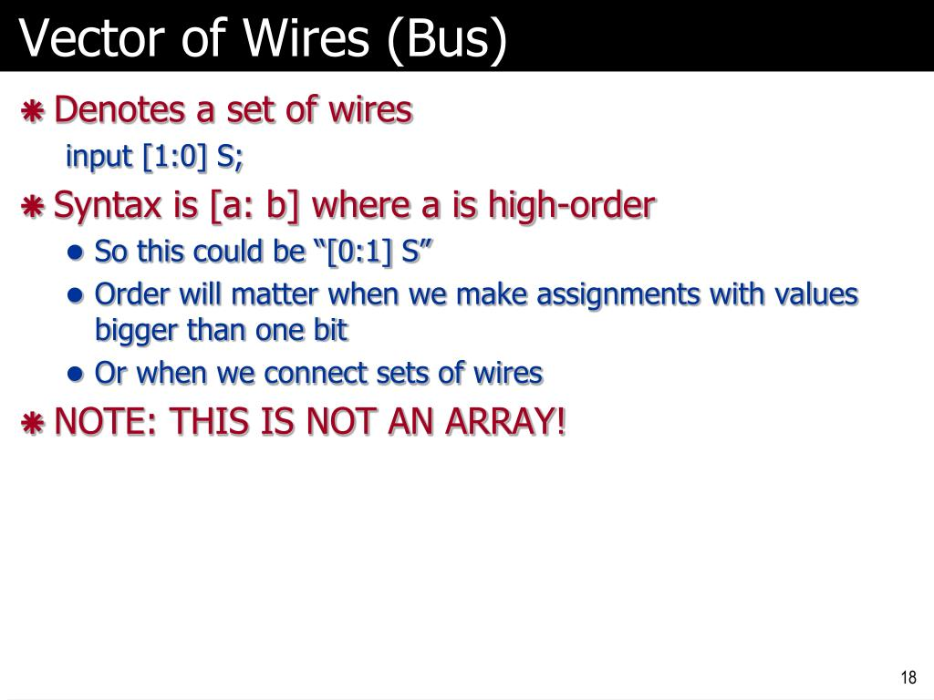 Vector of Wires (Bus)