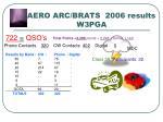 aero arc brats 2006 results w3pga