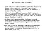 randomization worked