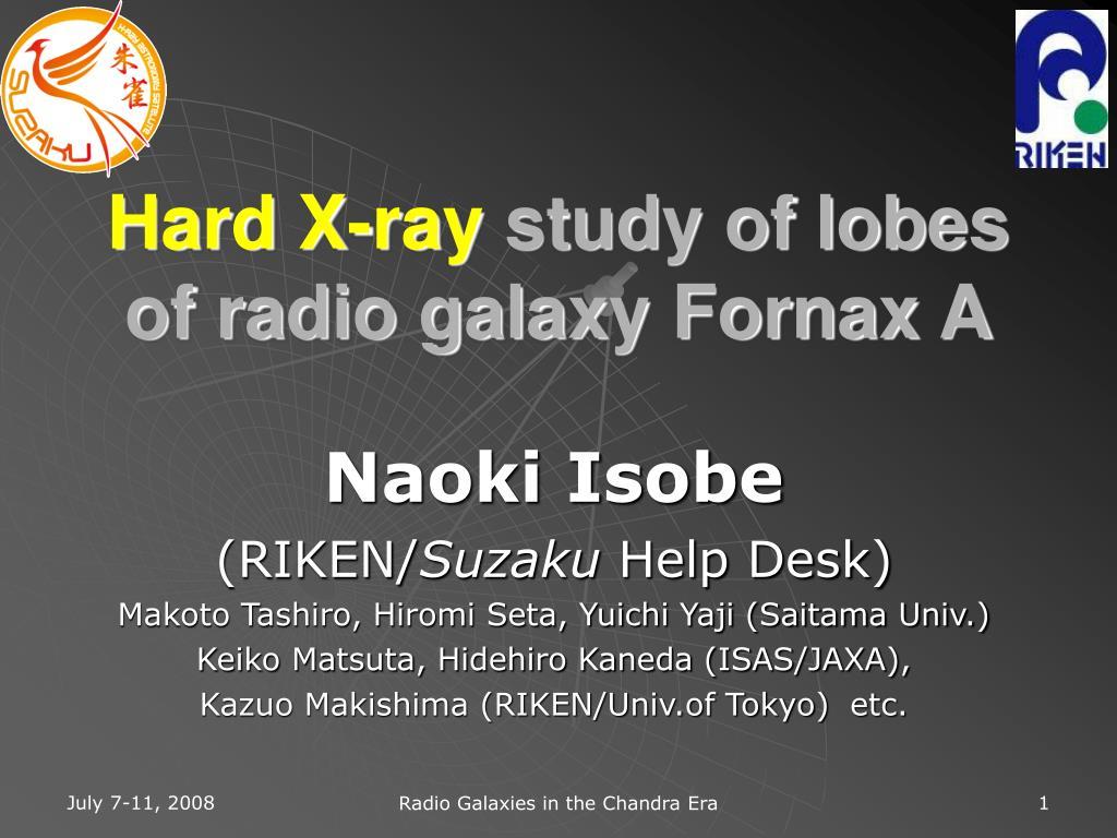 hard x ray study of lobes of radio galaxy fornax a l.