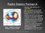 radio galaxy fornax a