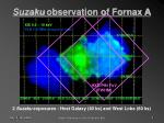 suzaku observation of fornax a