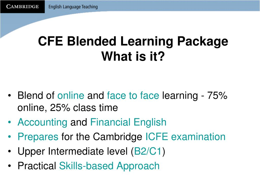 CFE Blended Learning Package