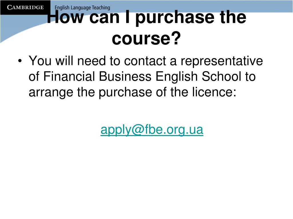 How can I purchase the course?