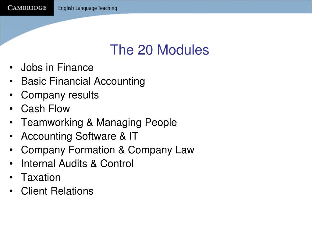 The 20 Modules