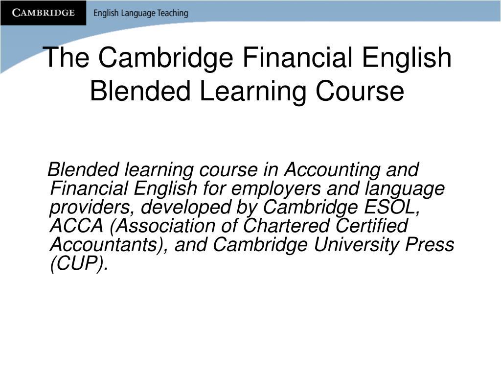 The Cambridge Financial English