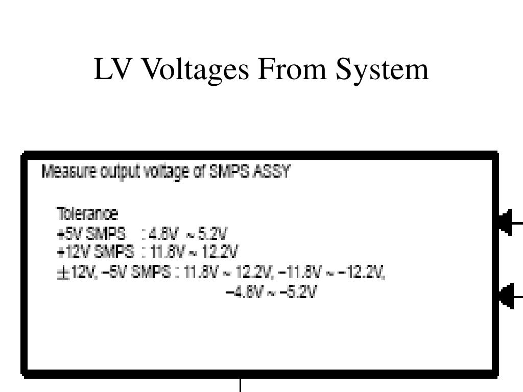 LV Voltages From System
