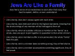 jews are like a family