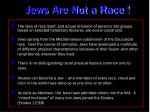 jews are not a race