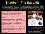 shabbat the sabbath