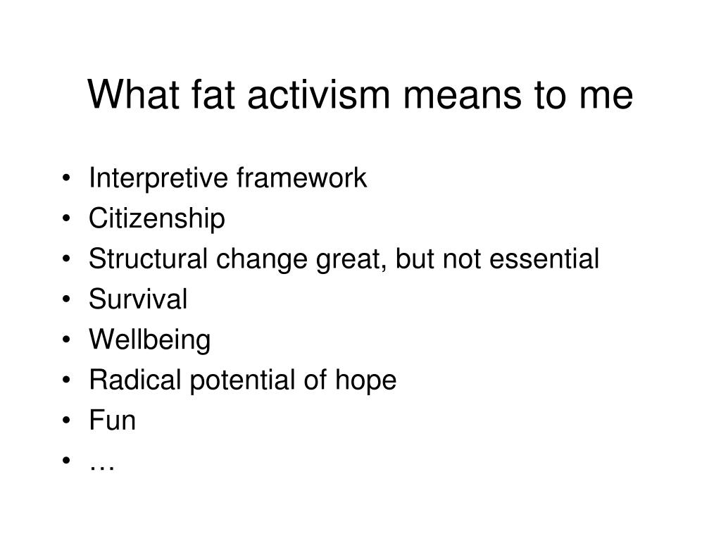 What fat activism means to me