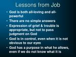 lessons from job