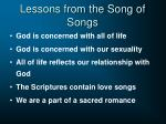 lessons from the song of songs