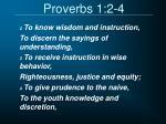 proverbs 1 2 4