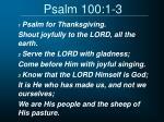psalm 100 1 3
