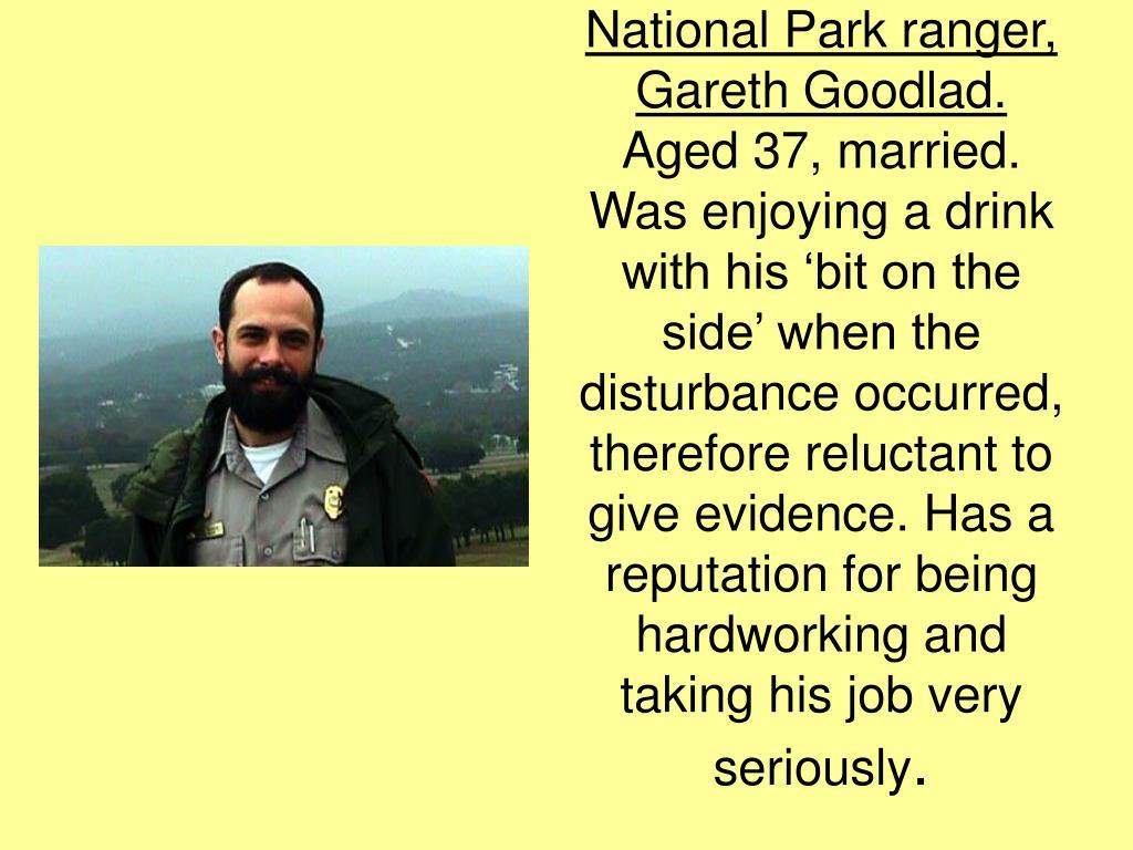 National Park ranger, Gareth Goodlad.