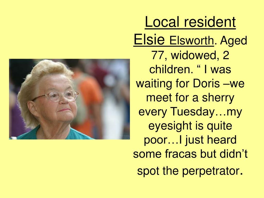 Local resident Elsie