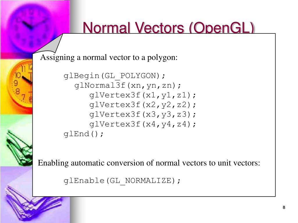 Normal Vectors (OpenGL)
