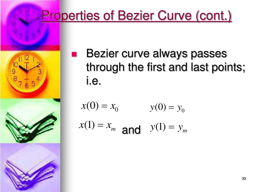 Properties of Bezier Curve (cont.)