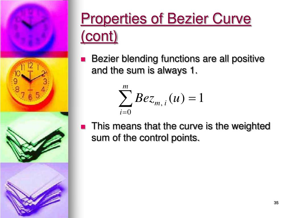 Properties of Bezier Curve (cont)